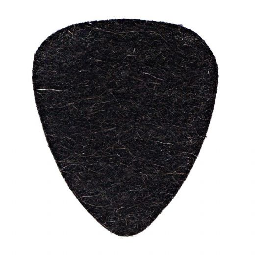 Felt Tones Black Wool Felt 1 Guitar Pick